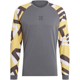 adidas Five Ten 5.10 TrailX Langarm T-Shirt Herren grey six/hazy yellow